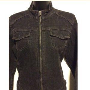 Chico's Jackets & Coats - Chico's stretch black denim Jean jacket
